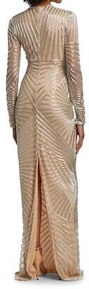 Naeem Khan Beaded Column Gown
