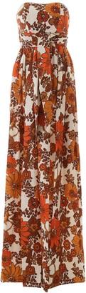 Dodo Bar Or Floral Print Off-Shoulder Maxi Dress