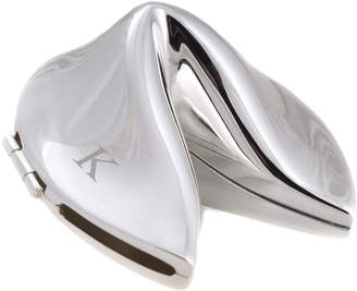 Bey-Berk Silver Plated Fortune Cookie Box