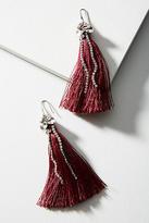 Anthropologie Sparkle Tassel Drop Earrings