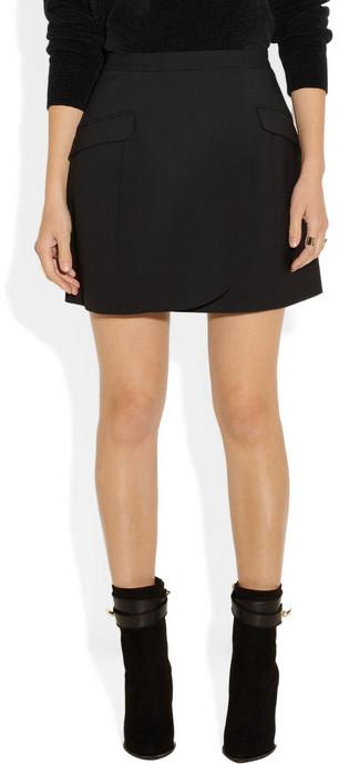 Theyskens' Theory Farchy woven wrap mini skirt