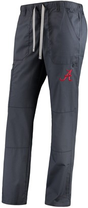 Women's Charcoal Alabama Crimson Tide Straight Leg Scrub Cargo Scrub Pants