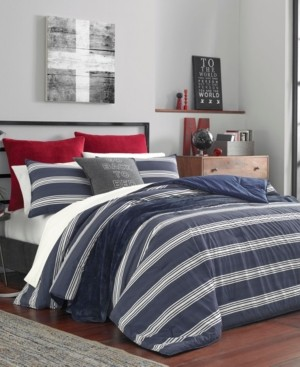 Nautica Craver Navy Duvet Cover Set, Full/Queen Bedding