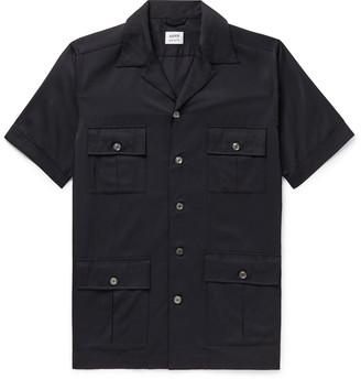 Aspesi Camp-Collar Shell Shirt - Men - Blue