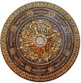 Caprice Fine Art Deco 37-1/2 in. Arabic Caprice, Bronze and Gold, Polyurethane Hand Painted Ceiling Medallion