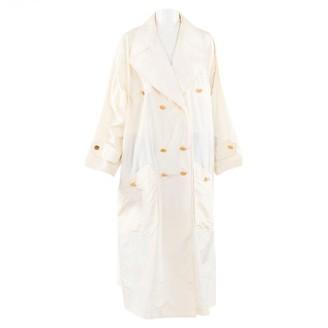 Chanel Ecru Silk Trench coats