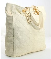 Christian Dior excellent (EX Cream Lady XL Tote Bag