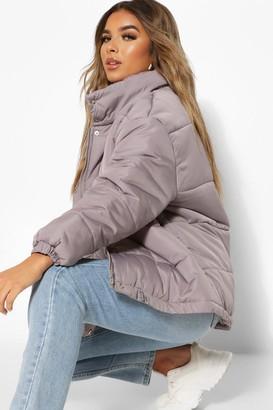 boohoo Petite Pocket Detail Padded Jacket