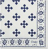 Drakes Geometric Silk Pocket Square