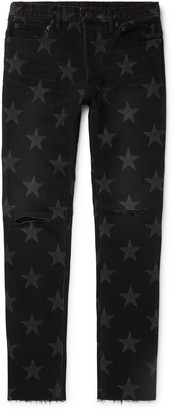 TAKAHIROMIYASHITA TheSoloist. Slim-Fit Tapered Distressed Printed Denim Jeans