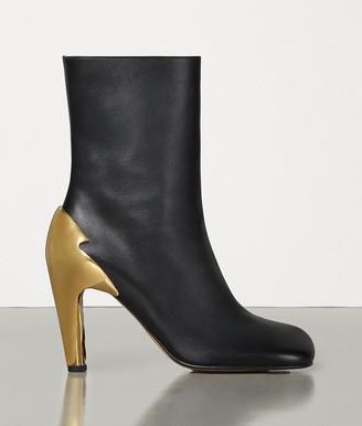 Bottega Veneta Bloc Boots In Shiny Calf