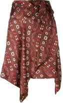 Isabel Marant 'Teal' asymmetric skirt