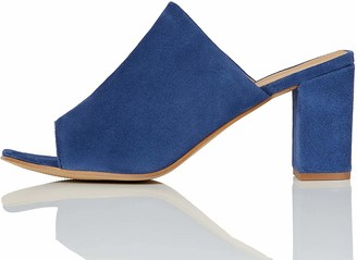 Find. Womens Mules in Suede with Block Heel