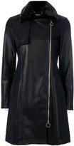 Twin-Set leather effect fitted coat - women - Polyamide/Polyester/Spandex/Elastane/Polyurethane Resin - 38