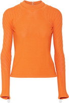 Carven Open-back Stretch-knit Sweater - Orange