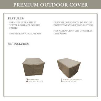 BEIGE TK Classics Monterey Water Resistant 3 Piece Patio Chair Cover Set TK Classics Color