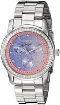 Invicta Women's Angel Steel Bracelet & Case Flame-Fusion Crystal Quartz Dial Analog Watch 23821