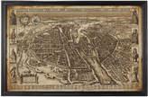 OKA Antique Early Paris Framed Map