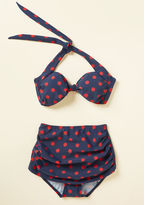 Esther Williams Beach Blanket Bingo Swimsuit Bottom in Navy Dots in 26