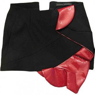 Anthony Vaccarello Black Wool Skirts