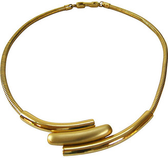 One Kings Lane Vintage Givenchy Modernist Two-Tone Necklace - Wisteria Antiques Etc