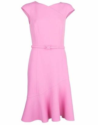 Oscar de la Renta Stretch Wool Crepe Dress