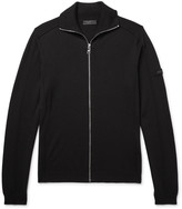 Prada Virgin Wool Zip-Up Sweater