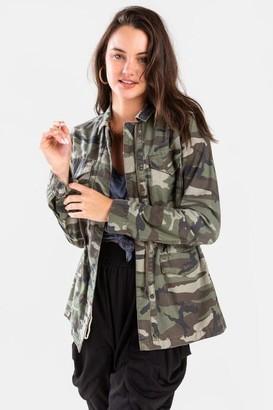francesca's Allie Casual Jacket - Olive