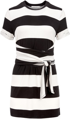 Alice + Olivia Jasset Tie Waist Mini Dress