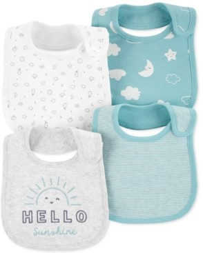 Carter's Baby 4-Pk. Cotton Clouds Bibs