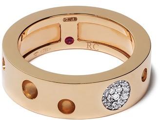 Roberto Coin 18kt rose gold Pois Moi Luna diamond ring