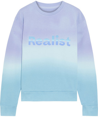 Paco Rabanne + Peter Saville Printed Degrade Cotton-fleece Sweatshirt