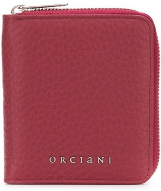 Orciani leather zip-around wallet