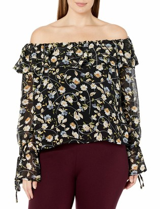 Forever 21 Women's Plus Size Floral Print Top