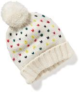 Old Navy Multicolor-Yarn Pom-Pom Beanie for Baby