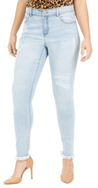 INC International Concepts Inc Curvy Rip & Repair Skinny Jeans, Created for Macy's