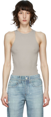 Rag & Bone Grey The Essential Rib Tank Top