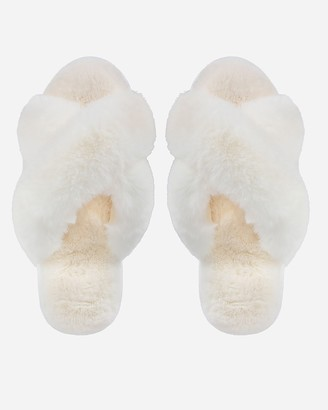Express Memoi Beverly Fur Plush Slippers
