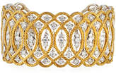 Buccellati Etoilée 18K Cuff Bracelet with Diamonds