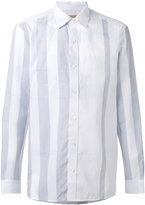 Burberry striped shirt - men - Cotton/Linen/Flax - S