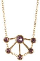 Rebecca Minkoff Gem Stone Fan Pendant Necklace