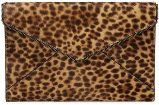 Rebecca Minkoff Leopard-Print Calf Hair Leather Clutch