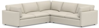 Pottery Barn Bolinas Upholstered 3-Piece L-Sectional