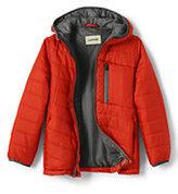 Lands' End Little Boys Packable Primaloft Jacket-Zesty Orange