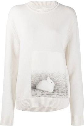 Jil Sander Photo Print Wool Jumper