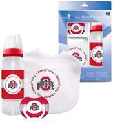 Baby Fanatic Ohio State Baby Three Piece Gift Set Feeding Bib Bottle Pacifier