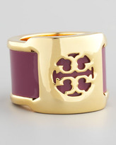Tory Burch Patent Leather Band Ring, Fuchsia
