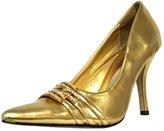 DbDk Fashion Luxury Divas Metallic Women's Dressy Pumps With Rhinestone Trim Shoe
