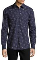 Strellson Slim Fit Flower Print Shirt