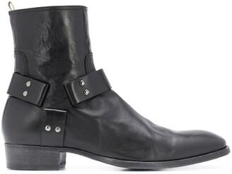 Officine Creative Strap-Embellished Ankle Boots